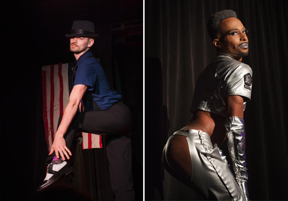 Boylesque performers at Homo Erectus