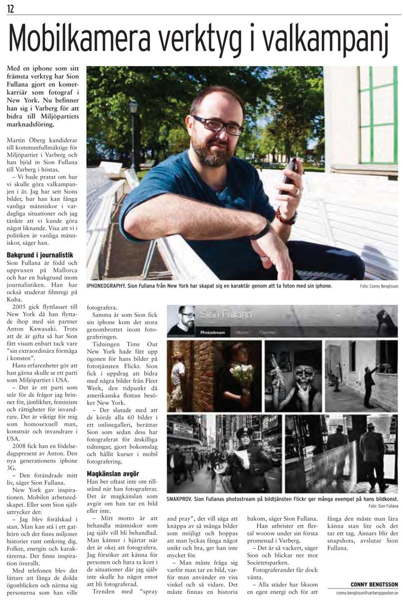 Sion Fullana in Swedish Newspaper 1
